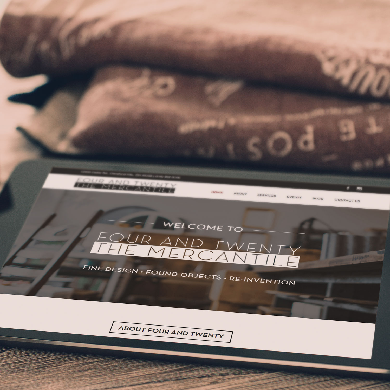 Four and Twenty Mercantile Cleveland Web Design