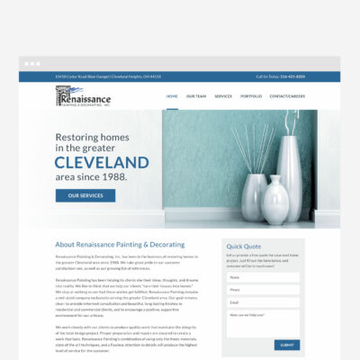 Renaissance Painting & Decorating Cleveland Web Design