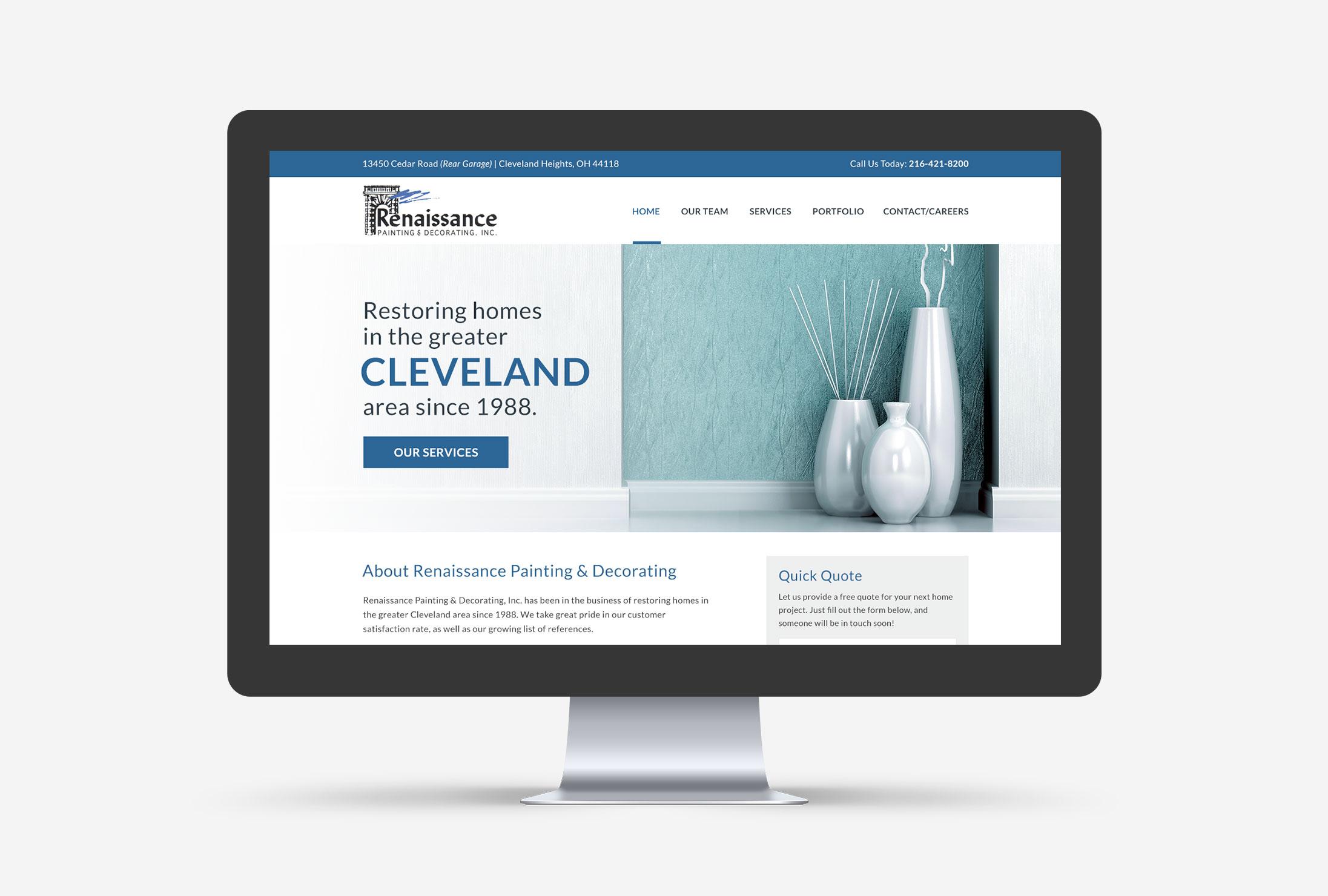 Renaissance Painting & Decorating Cleveland Web Design