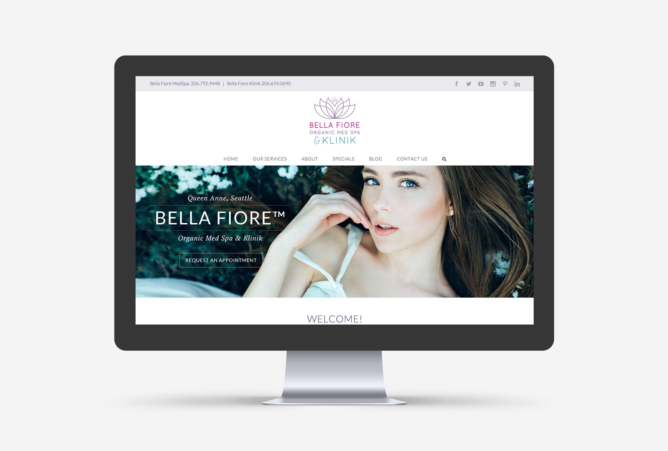 Bella Fiore MedSpa in Seattle - Cleveland Web Design by Blaz Design