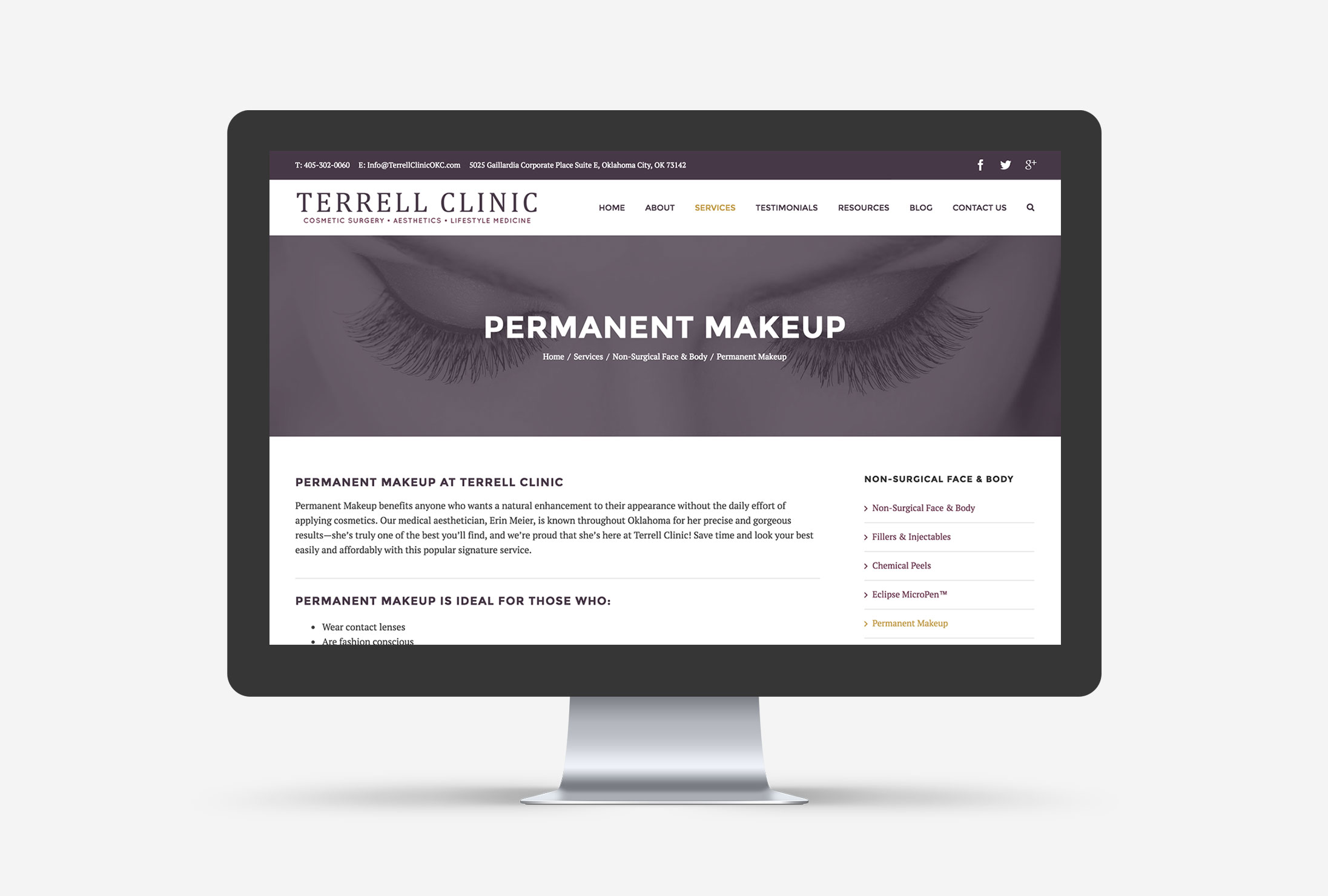 Terrell Clinic Small Business WordPress Web Design