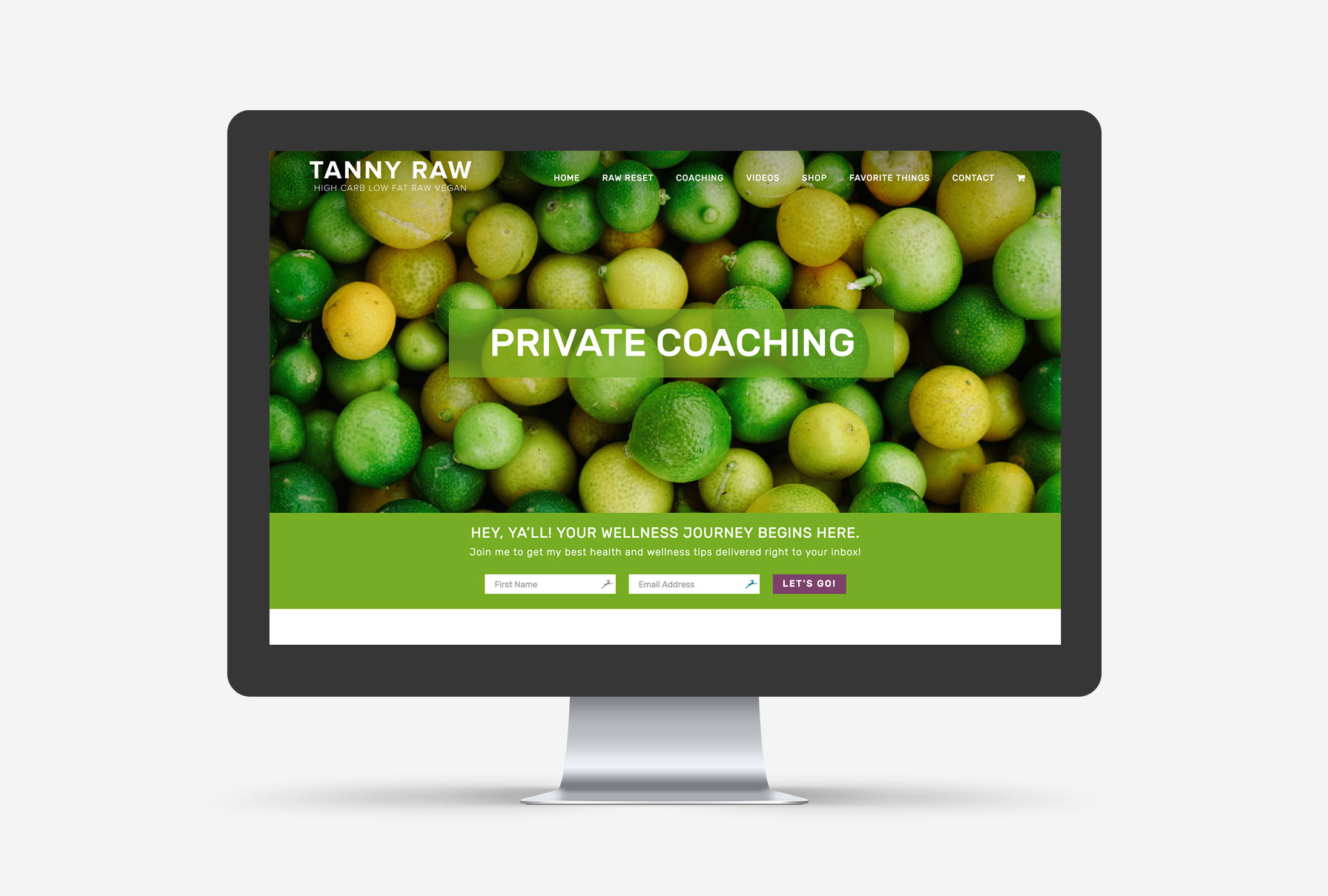 Tanny Raw Small Business WordPress Web Design