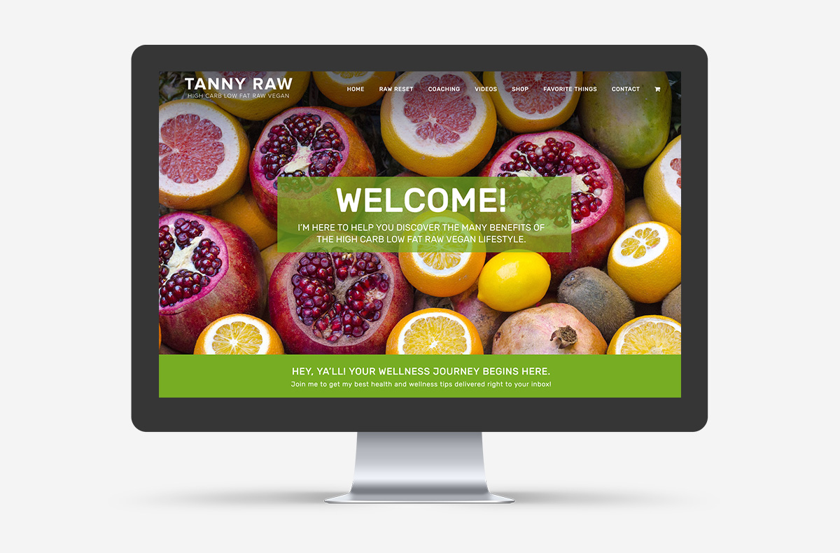 Tanny Raw Small Business WordPress Web Design