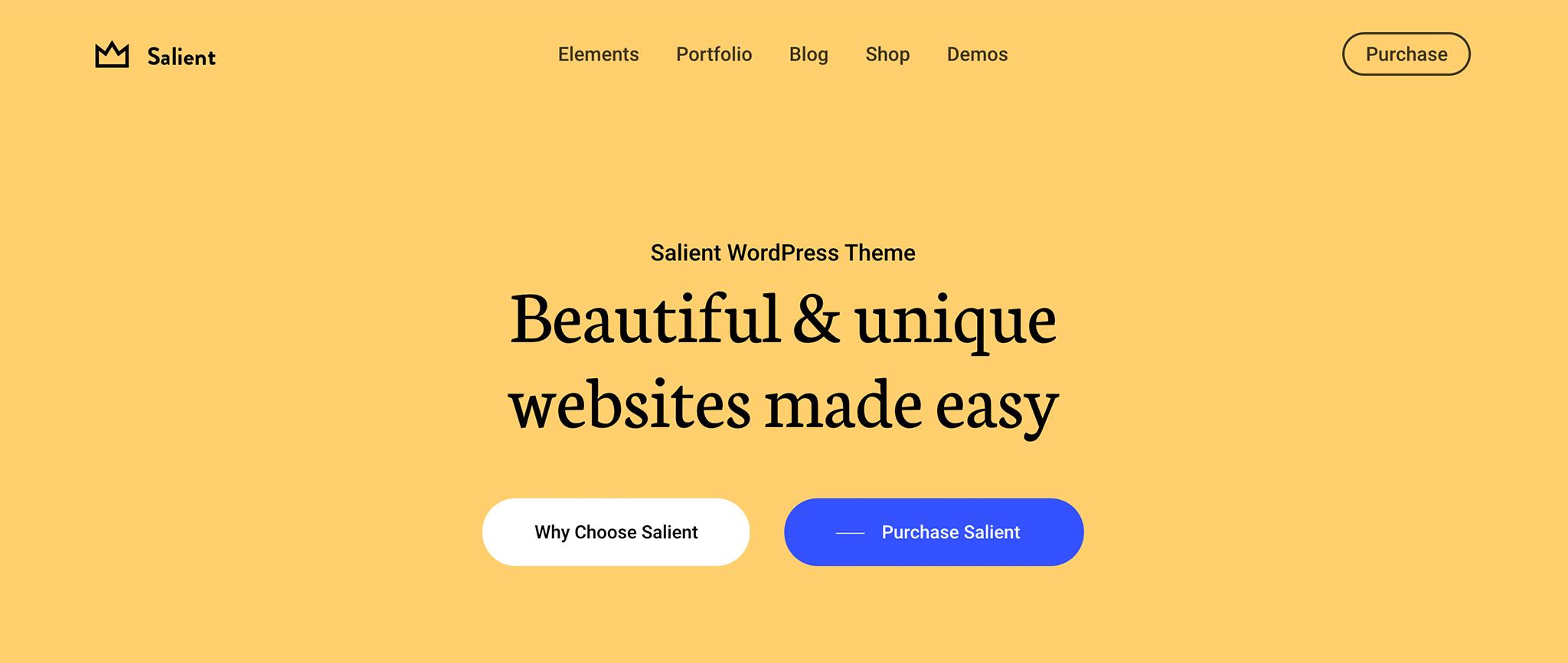 Salient Premium WordPress Theme