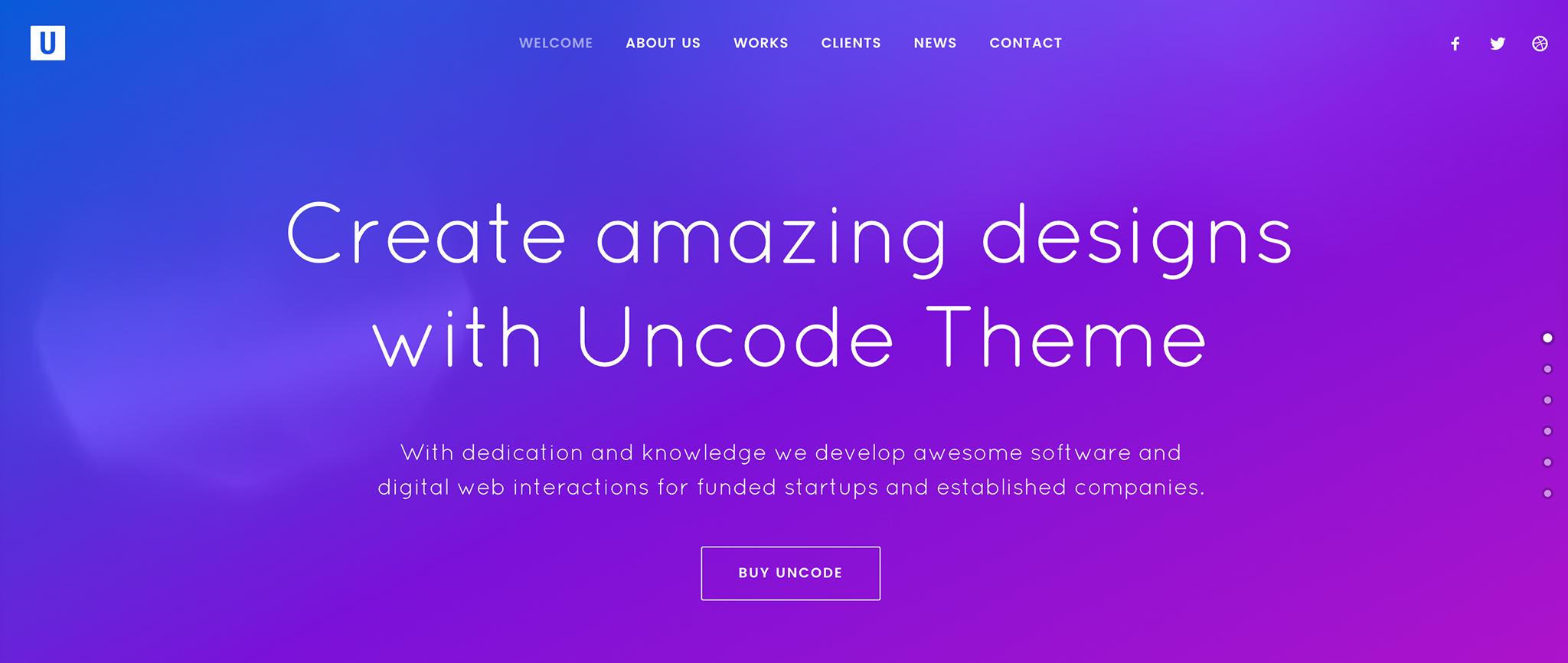 Uncode Premium WordPress Theme