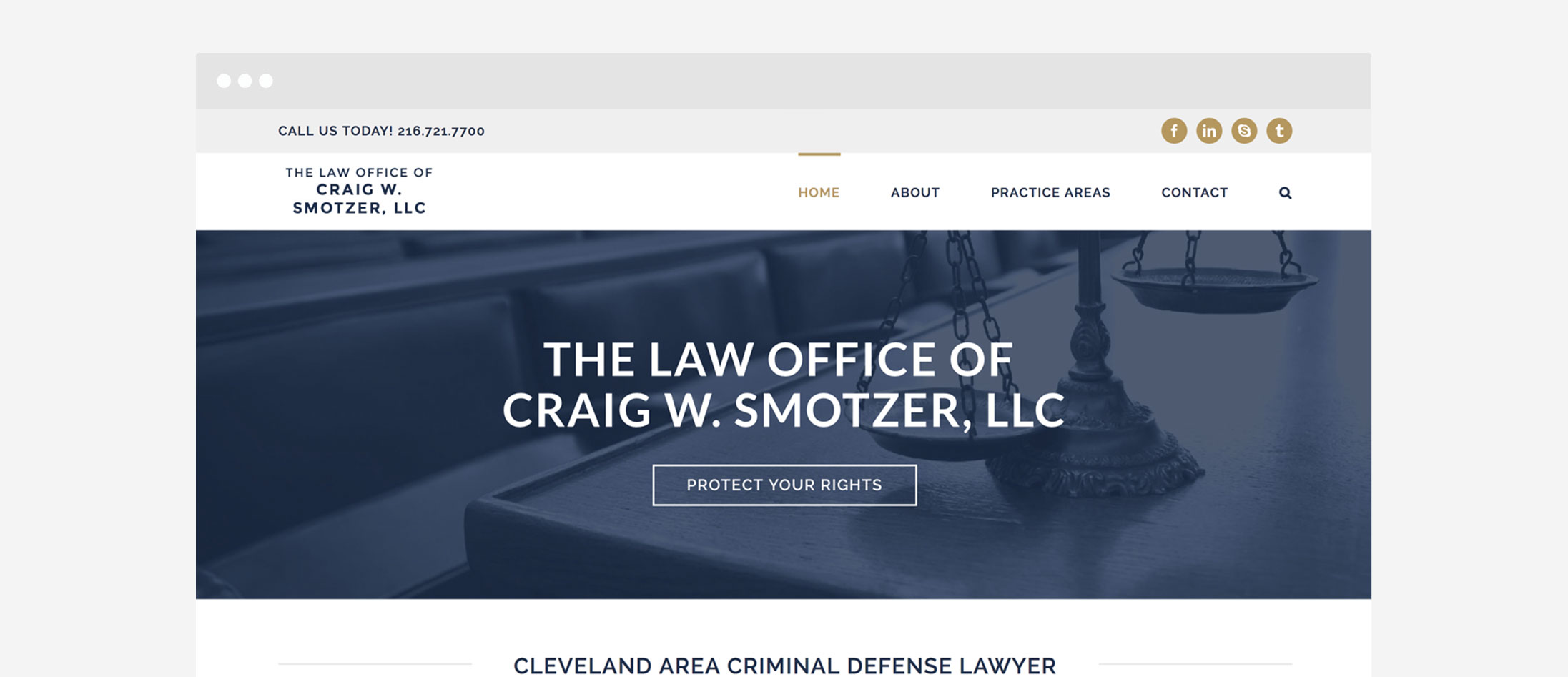 Smotzer Law Cleveland WordPress Web Design