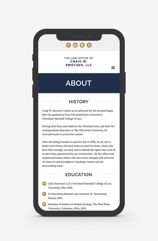 Smotzer Law Cleveland WordPress Web Design
