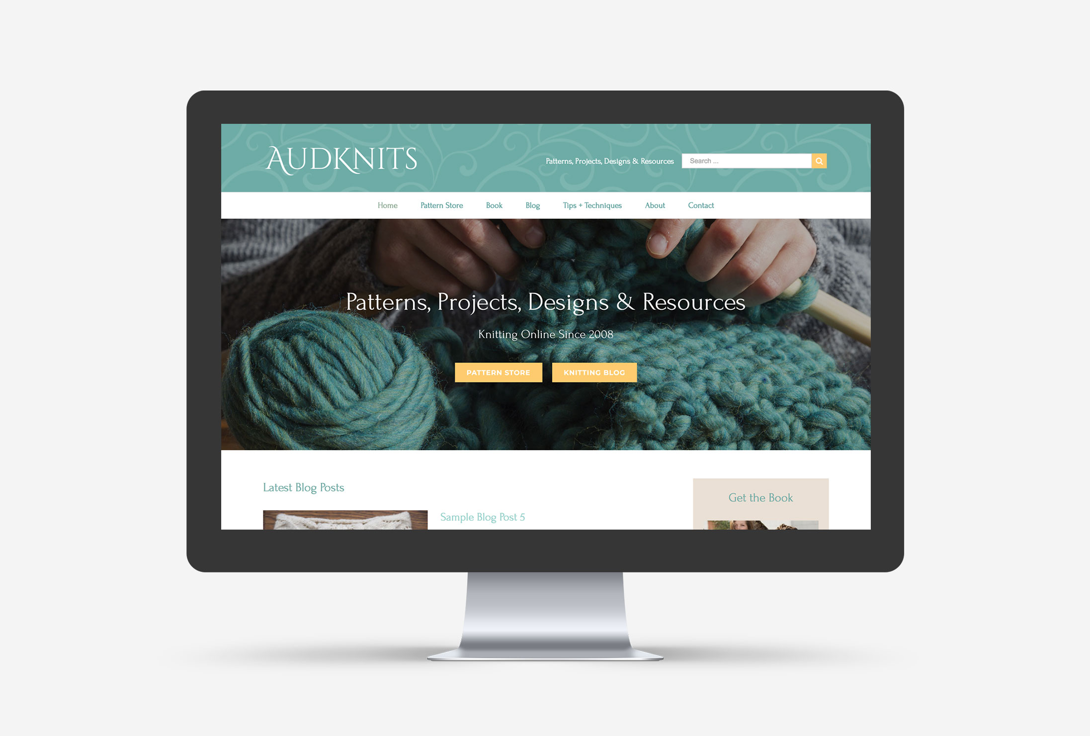 AudKnits Cleveland WordPress Web Design