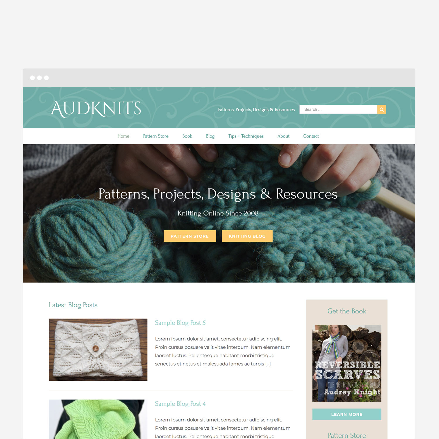 AudKnits Cleveland WordPress Web Design