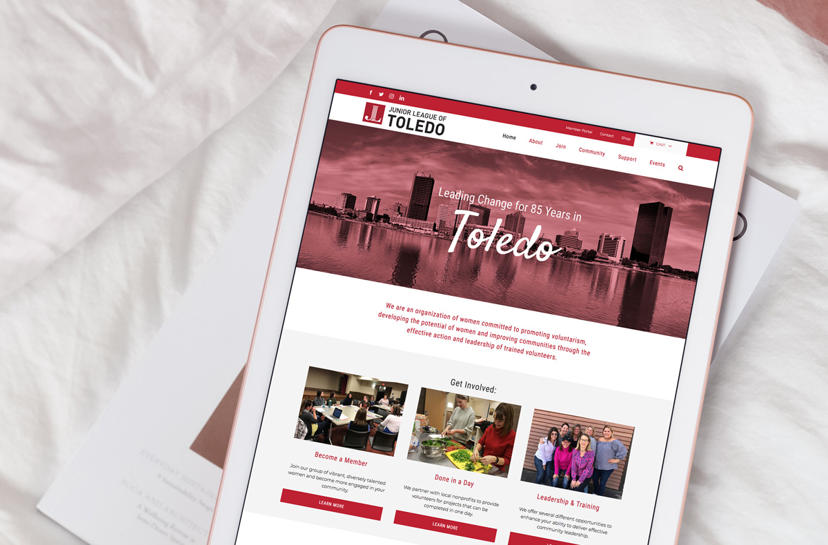 Junior League of Toledo Web Design & Graphic Design