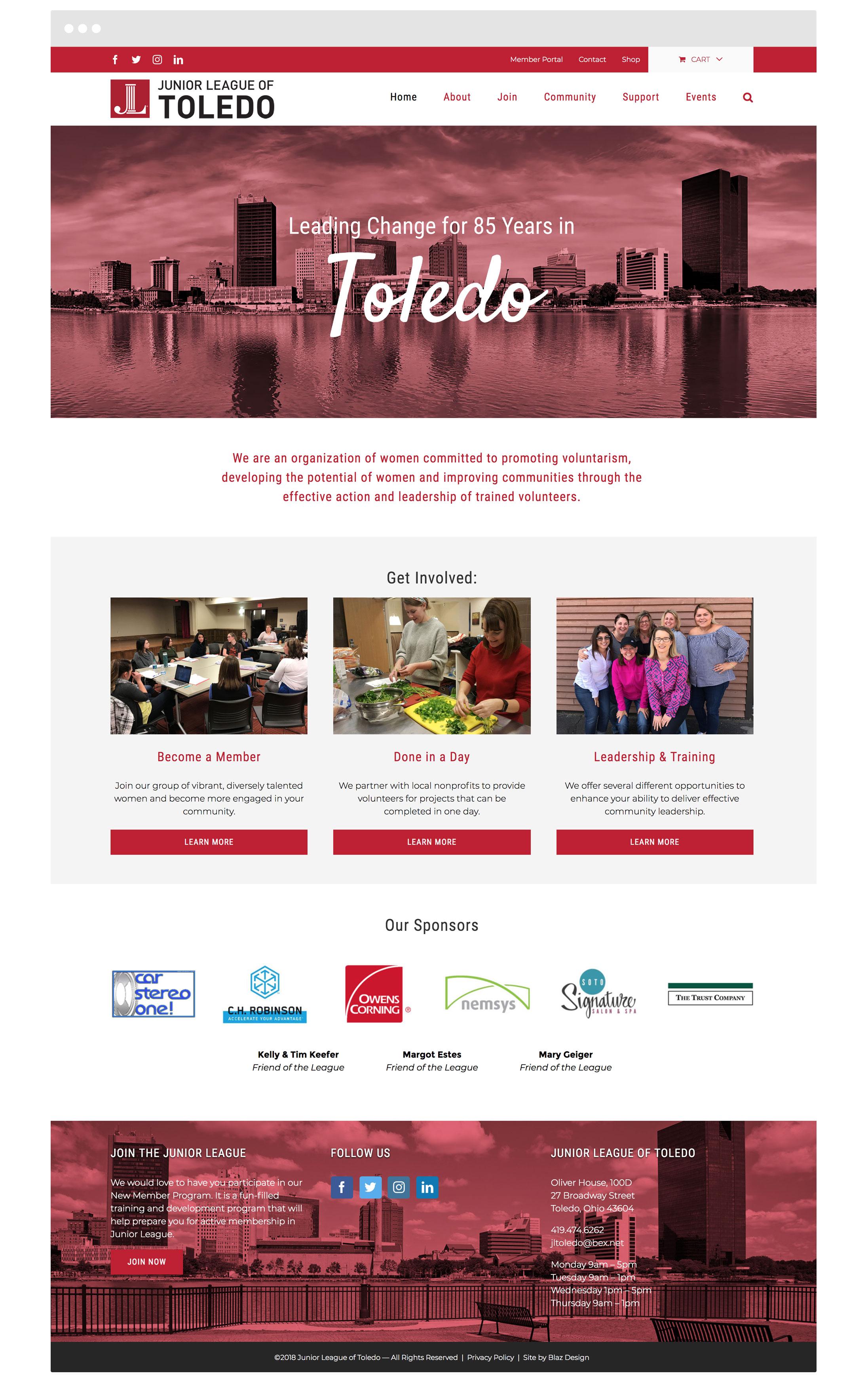 Junior League of Toledo Web Design & Graphic Design