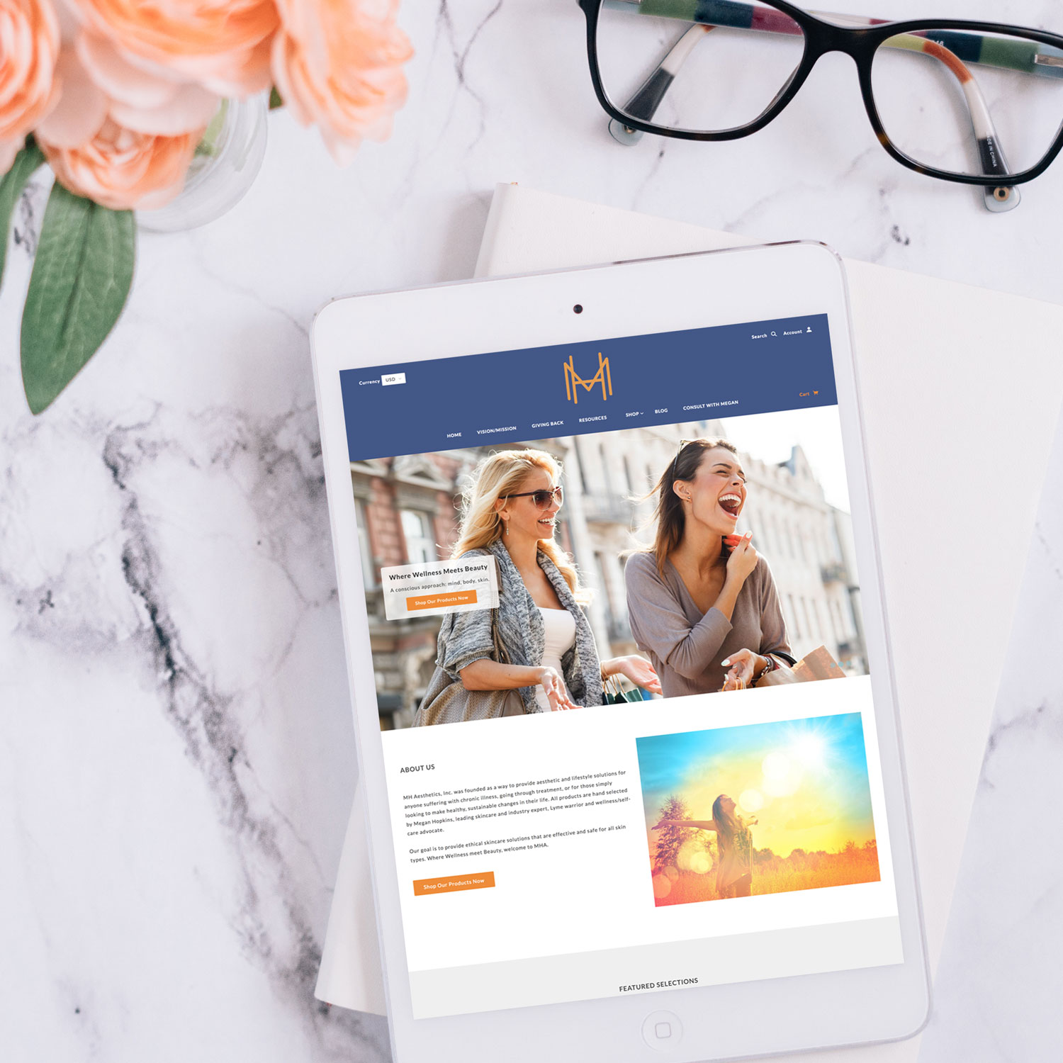 MH Aesthetics Shopify Website Design and Development