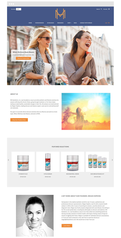 MH Aesthetics Shopify Website Design and Development
