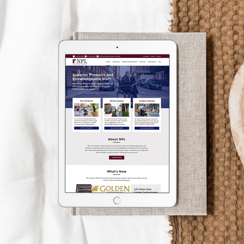 NPL Home Medical WordPress Website - Cleveland Web Design by Blaz Design