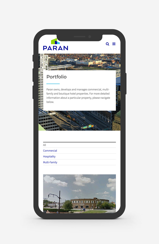 Paran Management Cleveland WordPress Web Design