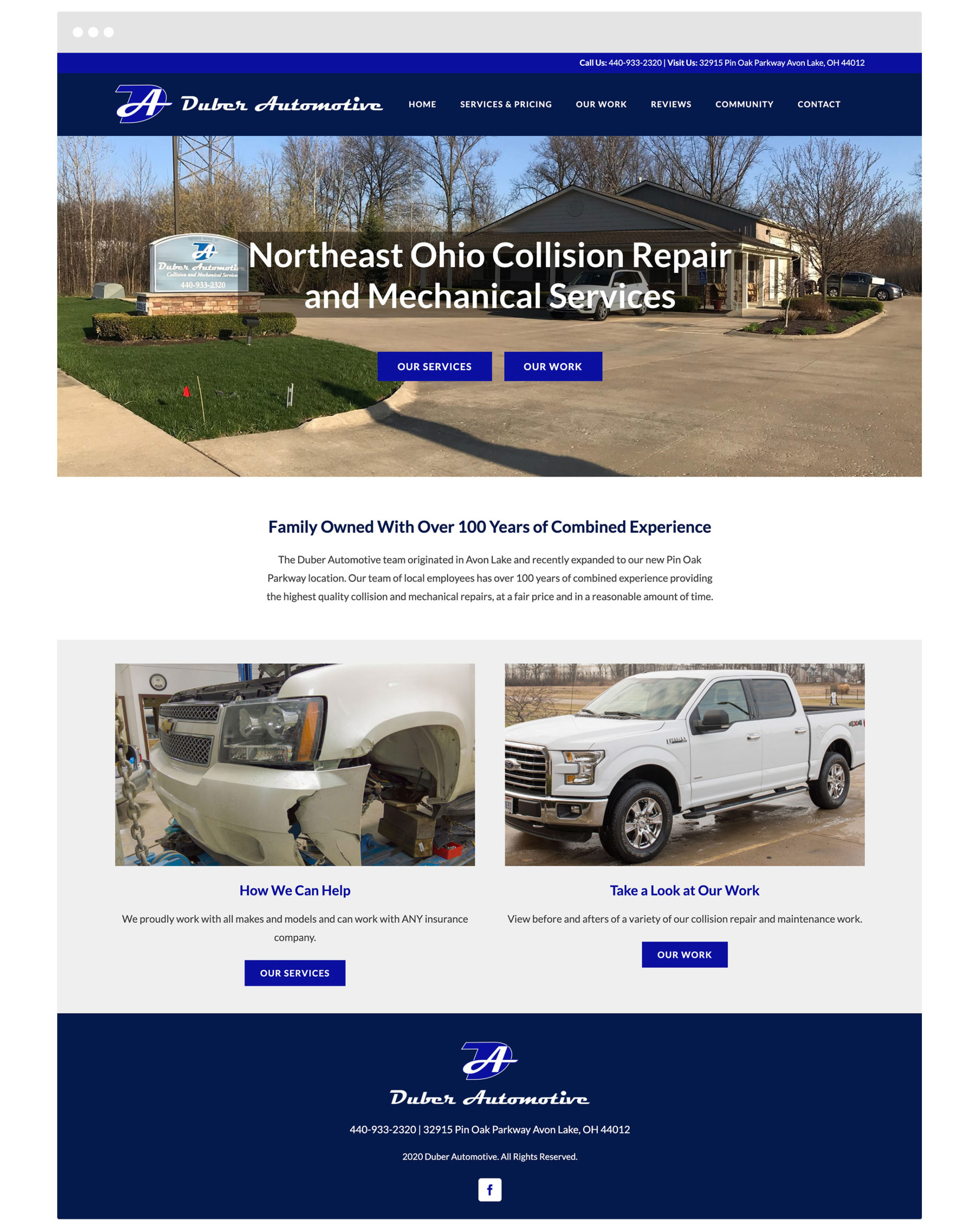 Duber Automotive Cleveland Web Design