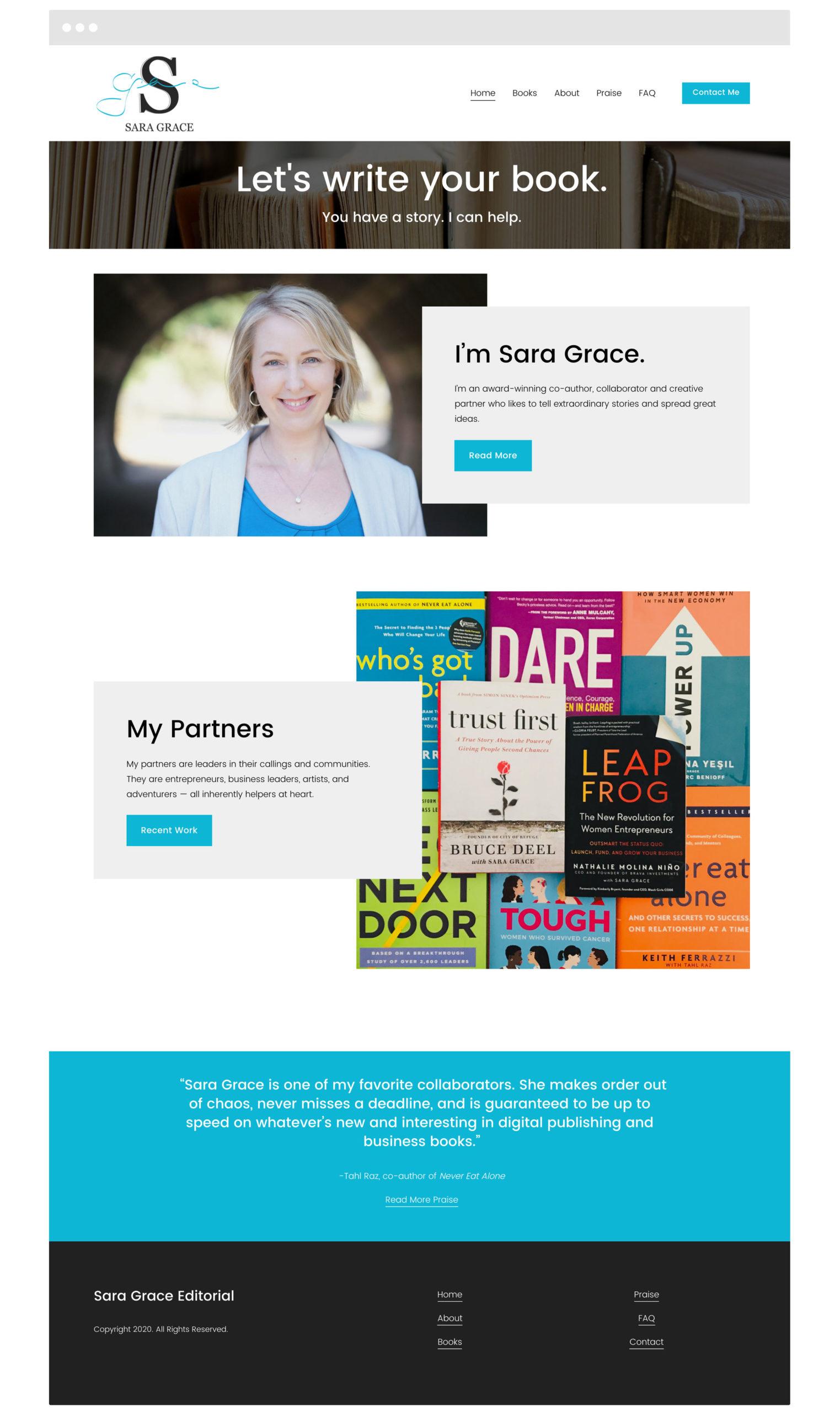 Sara Grace Squarespace Web Design - Cleveland, OH Web Design by Blaz Design